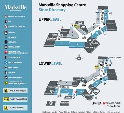 CF Markville Mall Shopping Centre plan