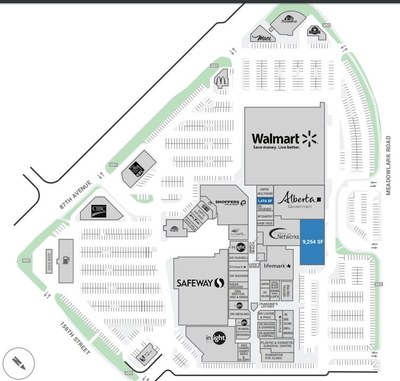 Meadowlark Health and Shopping Centre plan