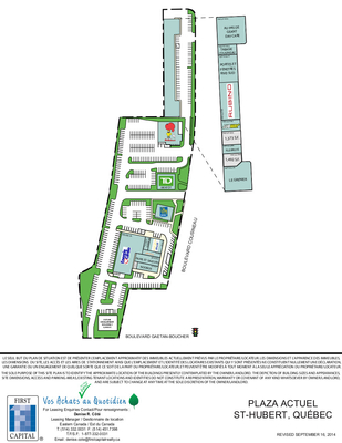 Plaza Actuel plan