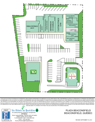 Plaza Beaconsfield plan