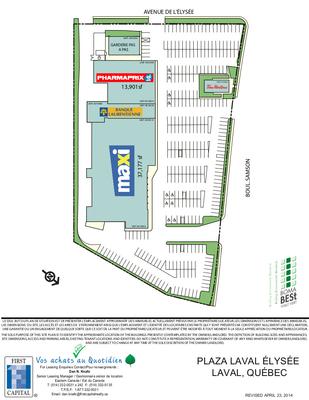 Plaza Laval Élysée plan