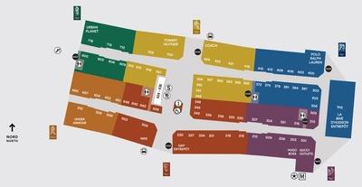 Premium Outlets Montréal plan