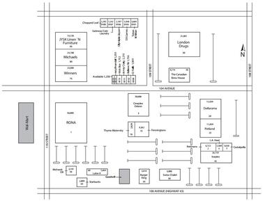 RioCan Centre Grande Prairie plan