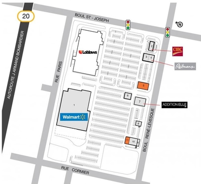SmartCentres Drummondville plan