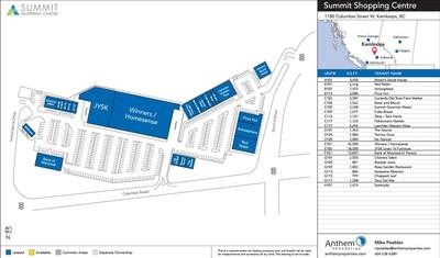 Summit Shopping Center plan