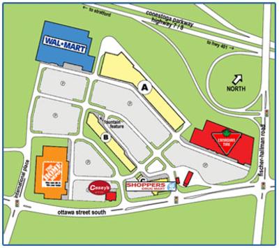 Sunrise Shopping Centre plan