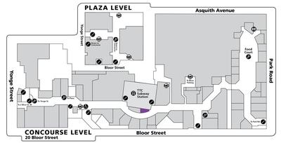 The Hudson's Bay Centre plan