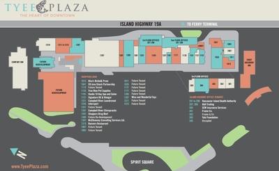 Tyee Plaza Shopping Centre plan
