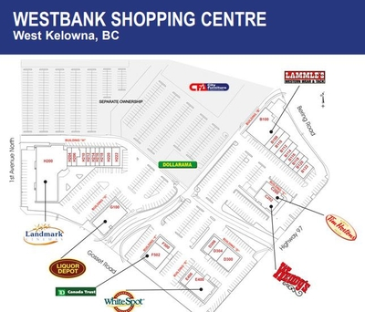 Westbank Shopping Centre plan