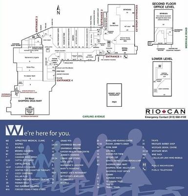 Westgate Shopping Centre plan