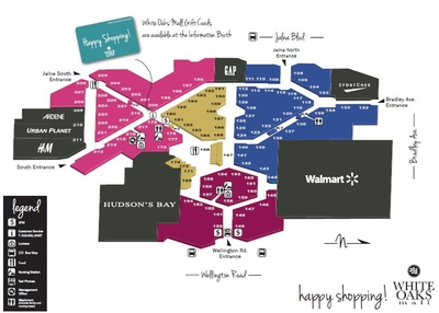 White Oaks Mall Ontario plan
