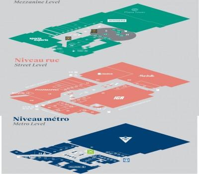 Alexis Nihon Shopping Mall plan