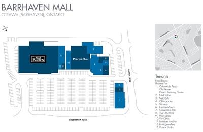Barrhaven Mall plan