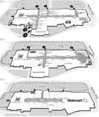 Bayshore Shopping Centre plan