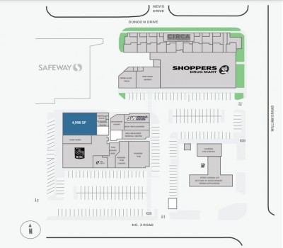 Broadmoor Shopping Centre plan