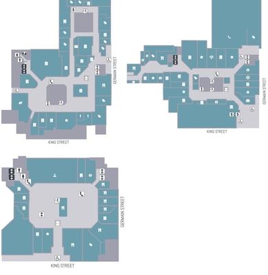 Brunswick Square Shopping Centre plan