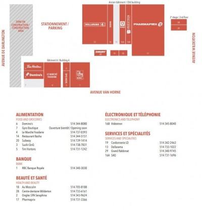 Centre Commercial Wilderton plan