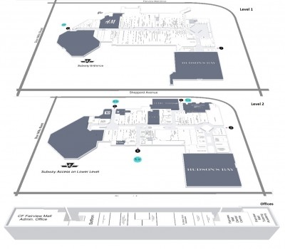 CF Fairview Mall plan