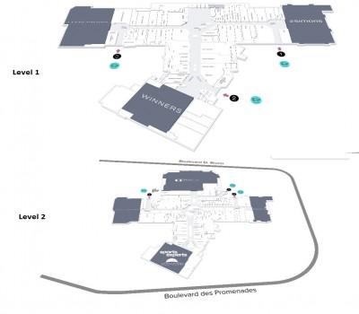 CF Promenades St-Bruno plan