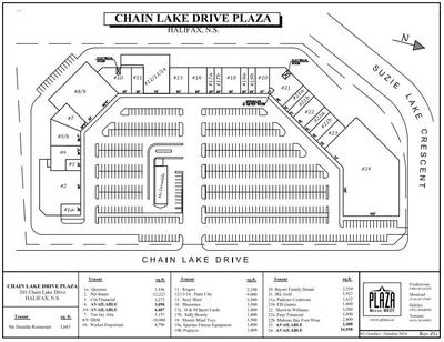 Chain Lake Drive Plaza plan