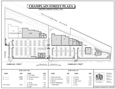 Champlain Street Plaza plan