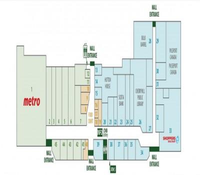 Cherryhill Village Mall plan
