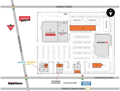 Chilliwack Mall (Smartcentres Chilliwack) plan