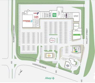 Clayton Park Shopping Centre plan