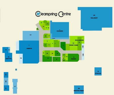 Clearspring Shopping Centre plan