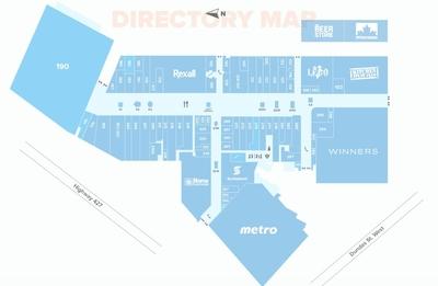 Cloverdale Mall plan