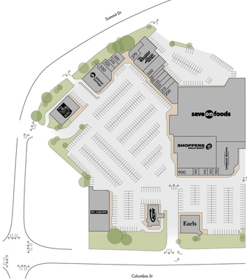 Columbia Place Shopping Centre plan