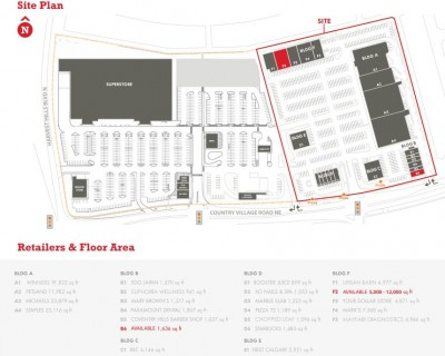 Coventry Hills Shopping Centre plan