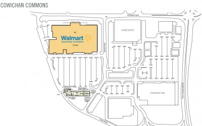 Cowichan Commons Shopping Centre plan