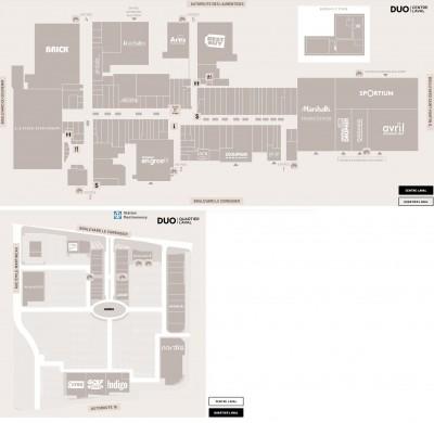 DUO Centre Quartier Laval plan