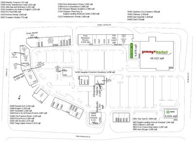 Eagles Landing Shopping Centre plan