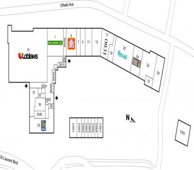 Elmvale Acres Shopping Centre plan