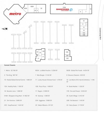 Fallingbrook Shopping Centre plan