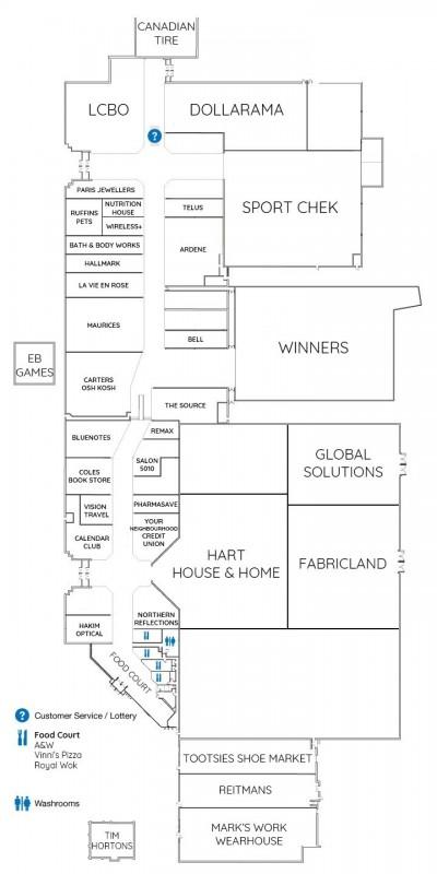 Festival MarketPlace Shopping Center plan