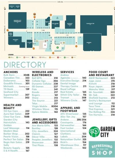 Garden City Shopping Centre plan