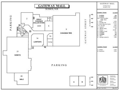 Gateway Mall plan