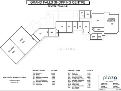 Grand Falls Shopping Centre plan