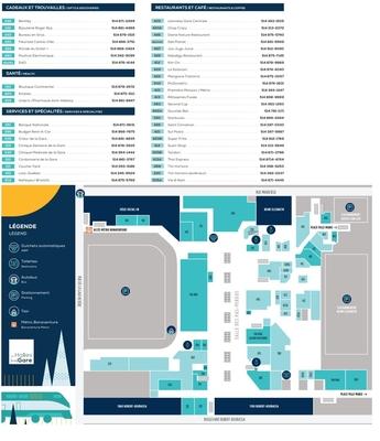 Halles De La Gare plan