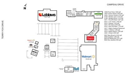 Kanata Centrum Shopping Centre plan