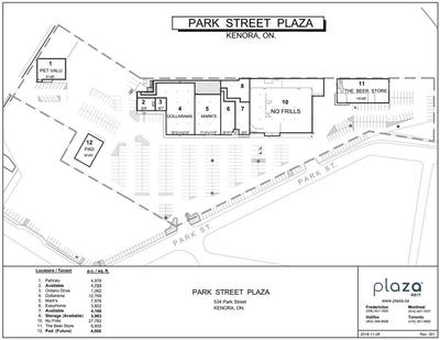 Kenora Shoppers Mall (Park Street Plaza) plan