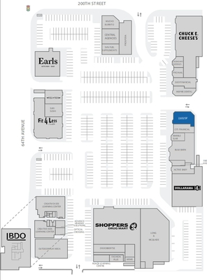Langley Crossing Shopping Centre plan