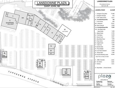 Lansdowne Plaza plan