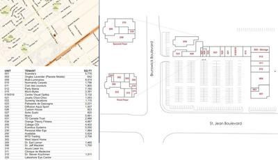 Les Colonnades Pointe-Claire plan