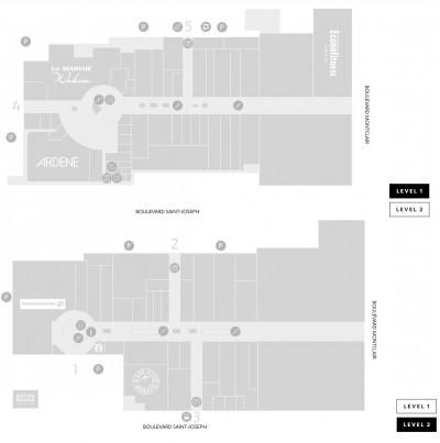 Les Galeries de Hull plan