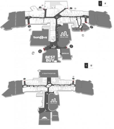 Les Galeries de la Capitale plan