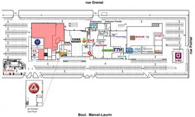 Les Galeries St. Laurent plan